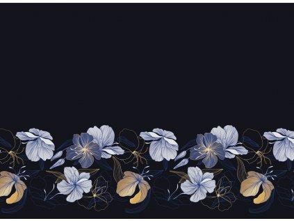 Zlaté a modré květy