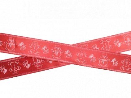 perníčky a sněhulíci na červené