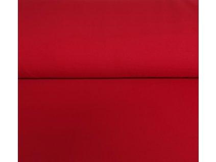 Bavlněný úplet s elastanem červený 200g/m2