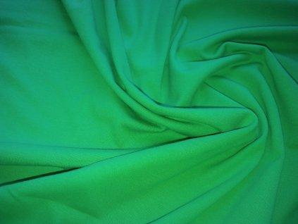 100% bavlněný úplet Zelený smaragd