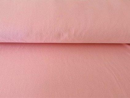 teplákovina jemně růžová