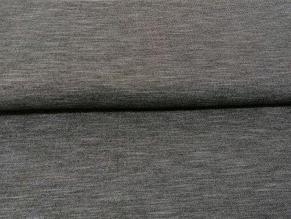 úplet JEANS šedý melír