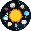 Panel na kolovou sukni Sluneční soustava