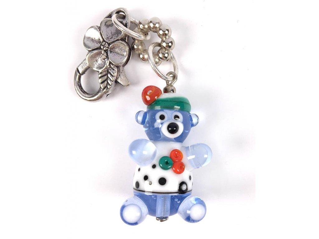 Medvídek modrobílý  Kouzelný medvídek, modrý
