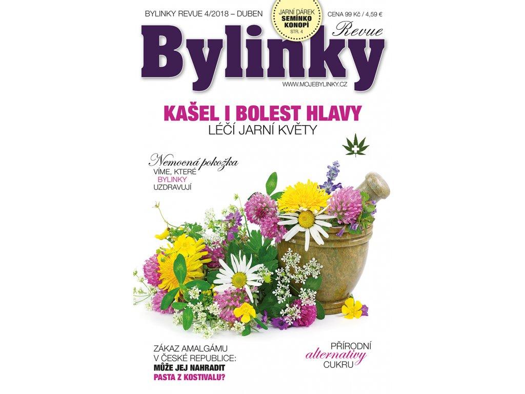 Bylinky revue 4/2018  KAŠEL I BOLEST HLAVY LÉČÍ JARNÍ KVĚTY