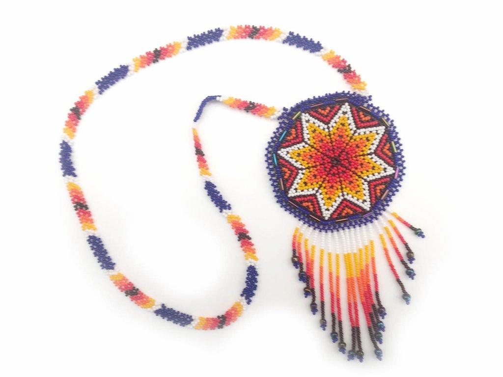 Náhrdelník Huichol art