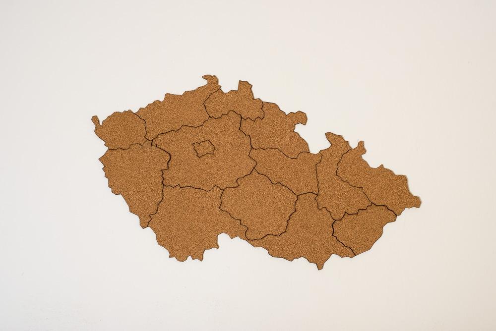 Samolepicí korková mapa Moje Česko Doplňky: Mapa Česka bez doplňků