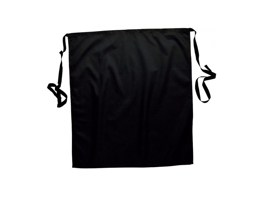 Černá zástěra do pasu