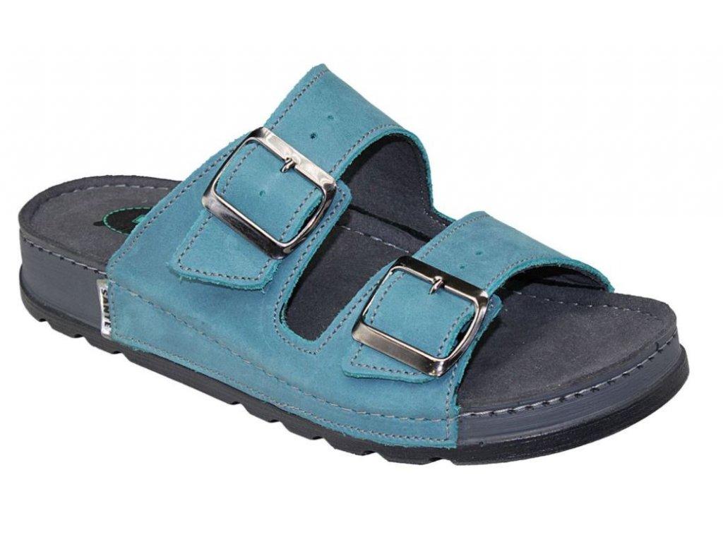 Dámské zdravotní pantofle SANTÉ tyrkysové