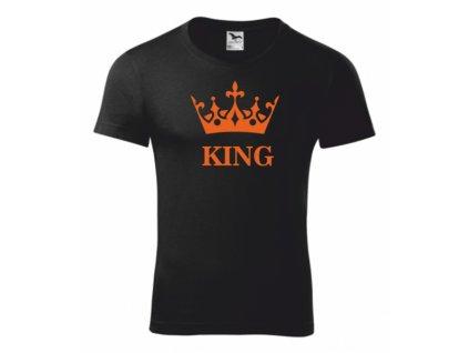 Tričko černé s KING