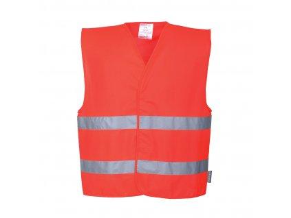 Reflexní vesta s dvěma pruhy