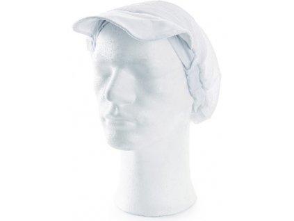 Bílá kuchařská čepice NELA