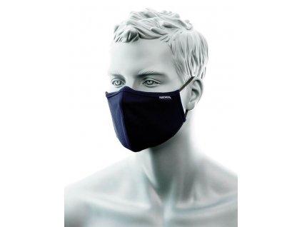 2vrstvá protimikrobiální látková rouška na obličej s nosním můstkem