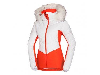 BU-4795SNW dámská bunda lyžařská zateplená s kožíšekem NORTHENAS