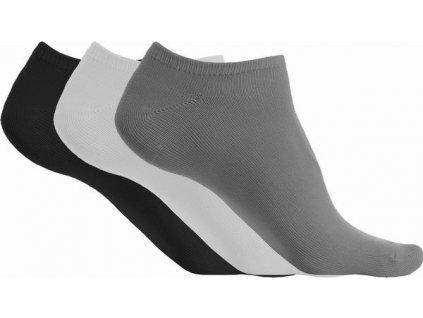 Kotníkové ponožky z mikrovlákna - 3páry