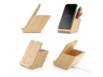 Bezdrátová nabíječka v bambusu LEAVITT