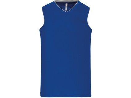 Basketbalový dres - tričko bez rukávů do V