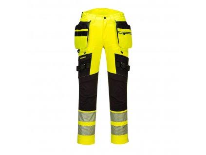 Kapesní kalhoty DX4 Hi-Vis s kapsou na zip