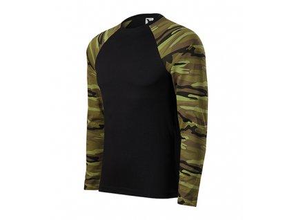 Camouflage LS Triko unisex