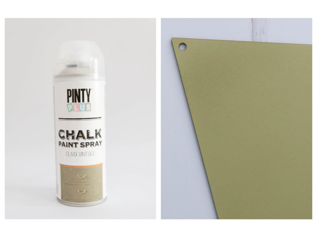 Pinty Plus kriedový sprej vintage oliva 400ml CK803