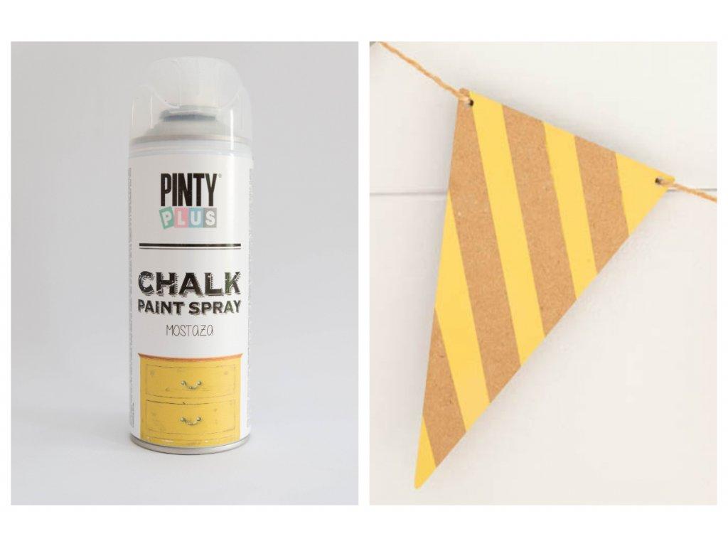 Pinty Plus kriedový sprej žltá horčicová 400ml CK801