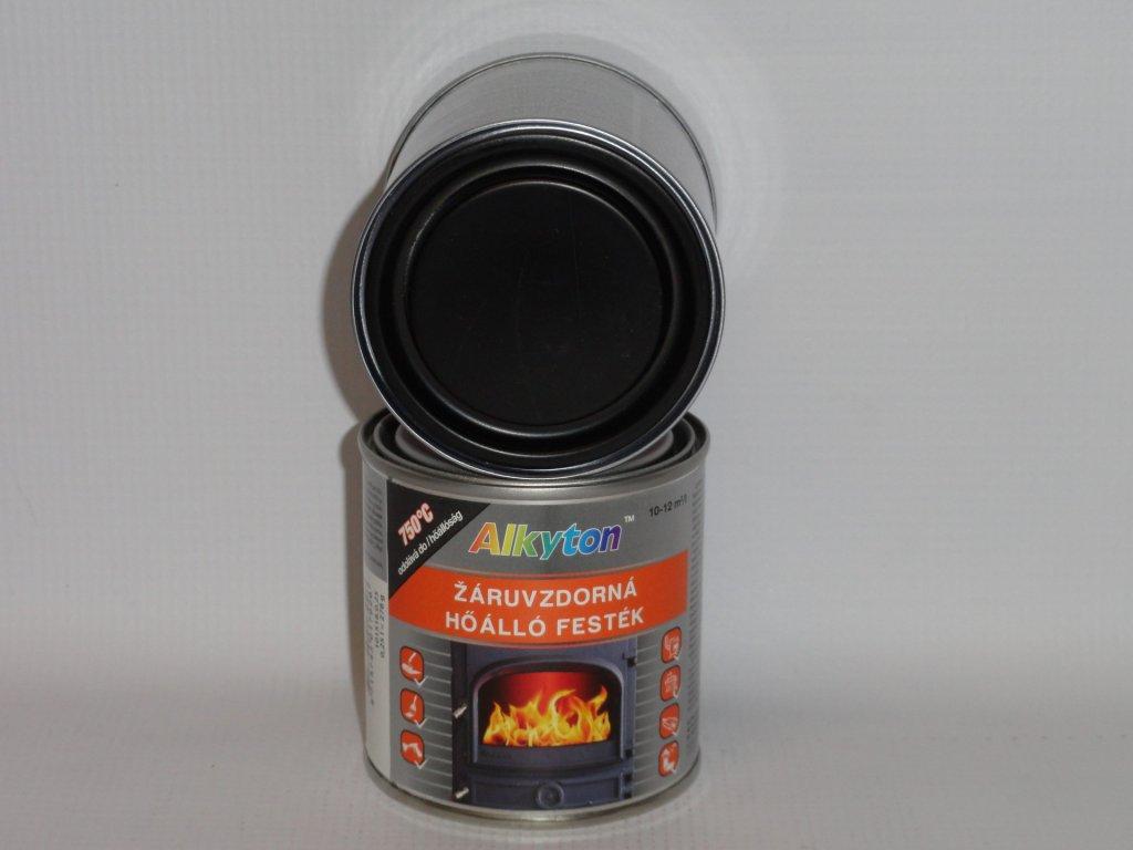 Alkyton žiaruvzdorná farba do 750°C 0,25l