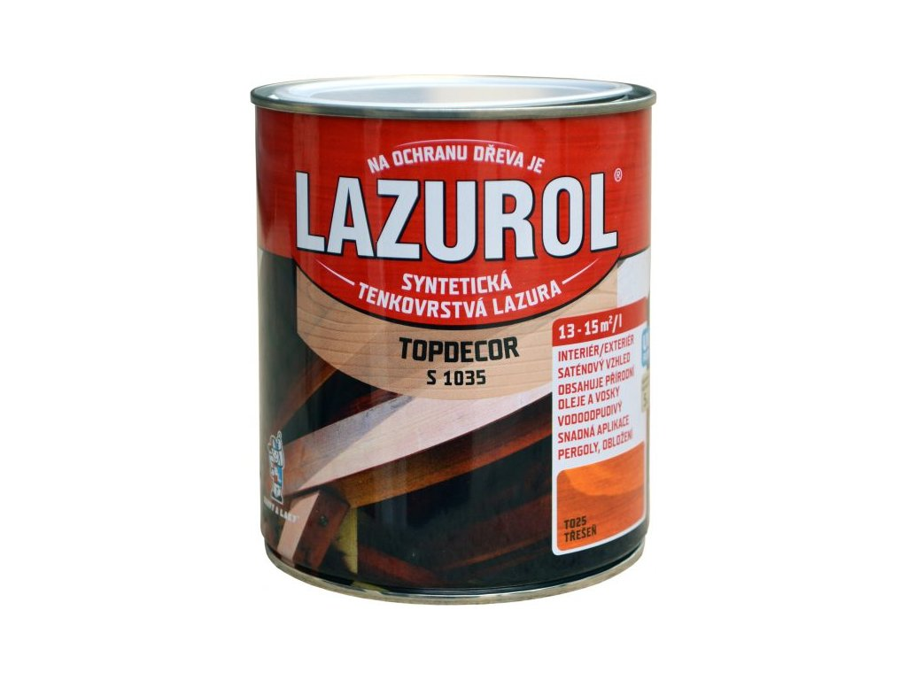 LAZUROL Topdecor 0.75l olej a vosk v jednom mix podla odtienov