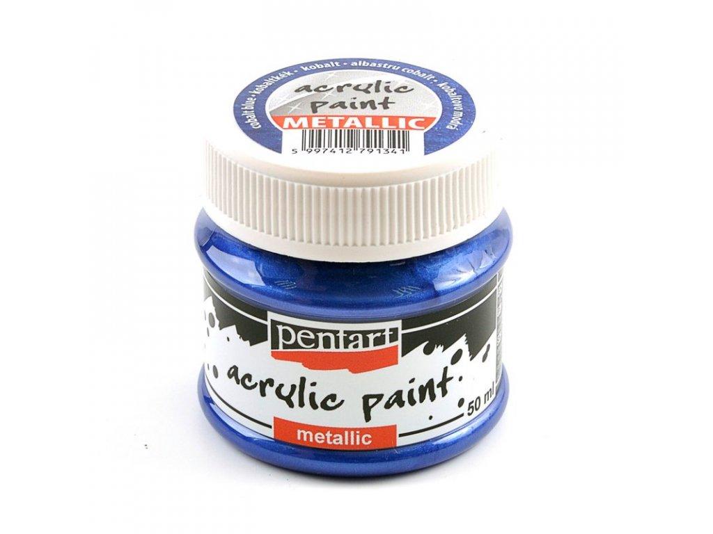 Akrylová farba metalická kobaltová 50 ml 29359