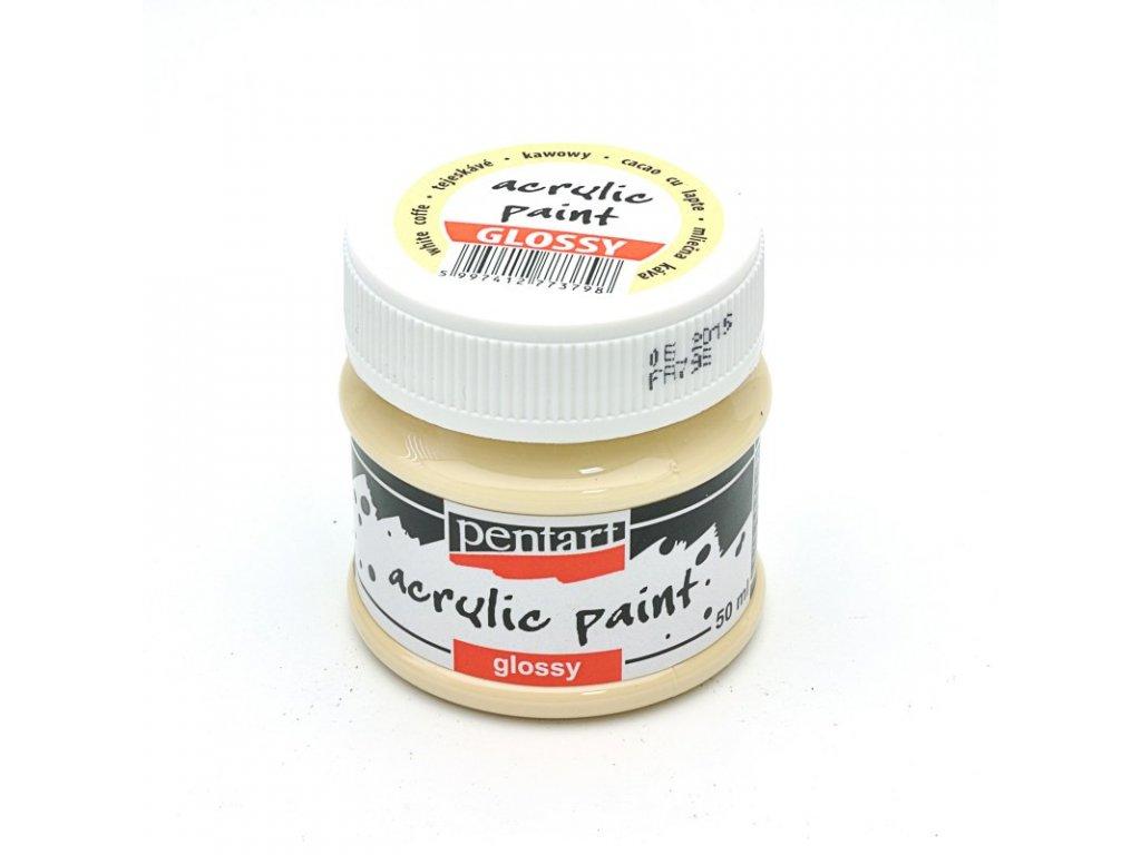 Akrylová farba lesklá mliečna káva 50ml 2048