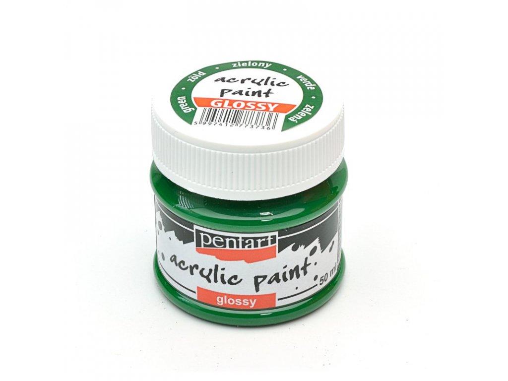 Akrylová farba lesklá zelená 50ml 1154