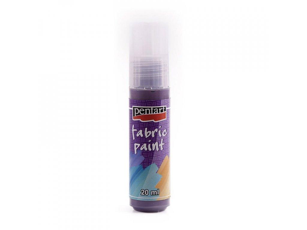 Farba na textil tmavo fialová 20ml tuba  3489