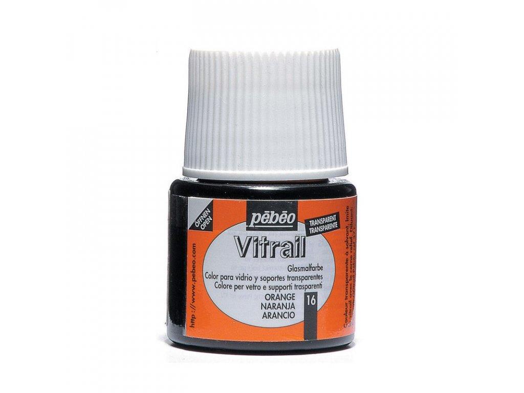 Vitrail farba na sklo 45 ml 16 orange -050016