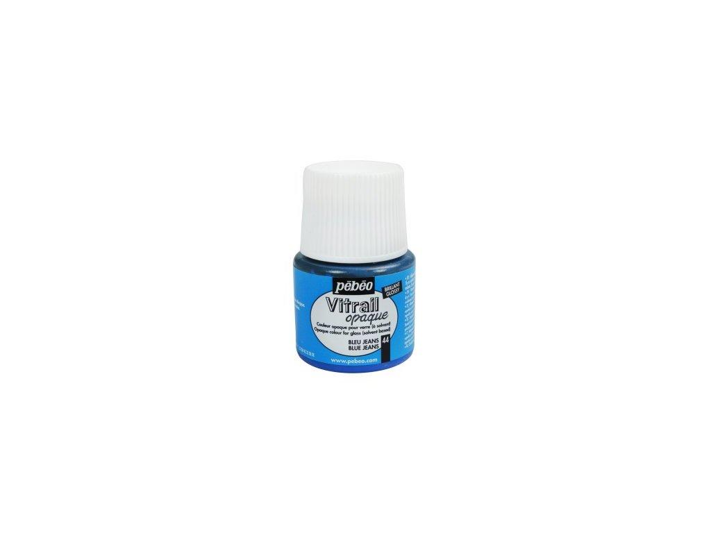 Vitrail OPAQUE farba na sklo 45ml 44 blue jeans- 050044