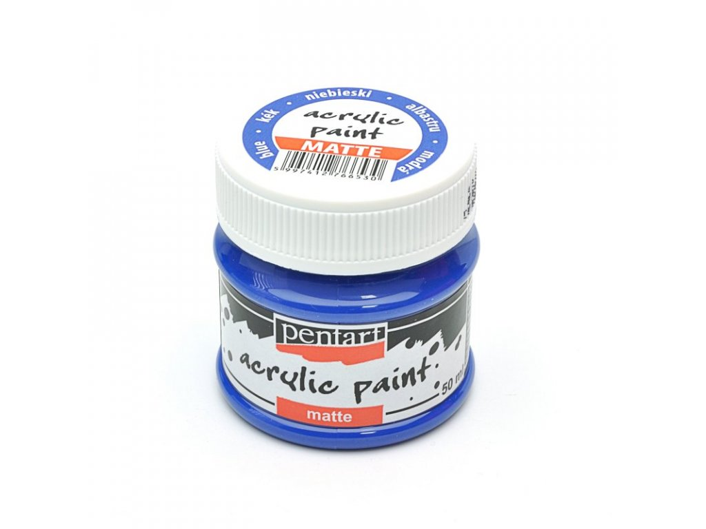 Akrylová farba matná modrá 50ml 1227