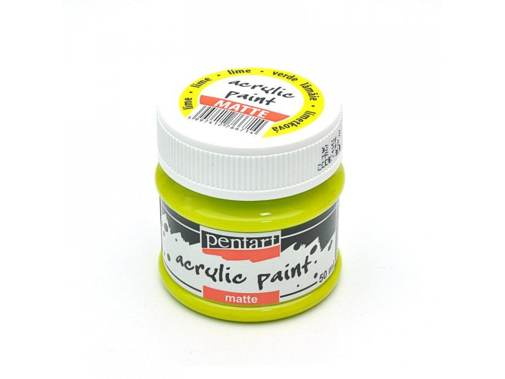 Akrylová farba matná limetková 50ml 1310