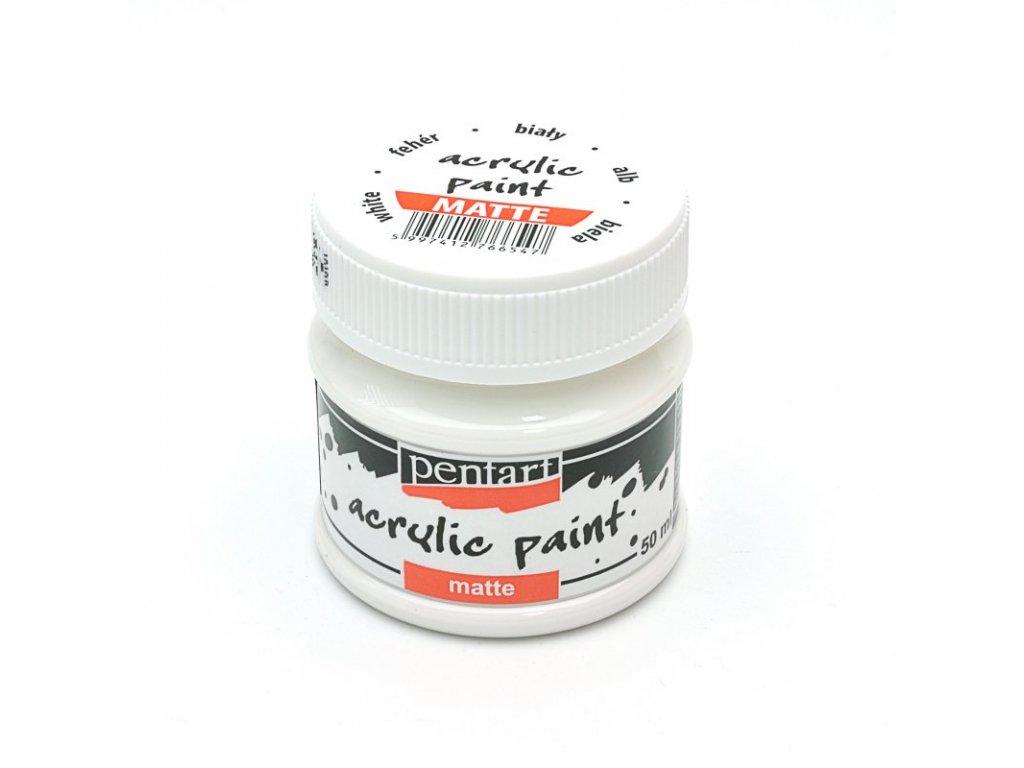 Akrylová farba matná biela 50ml 1017