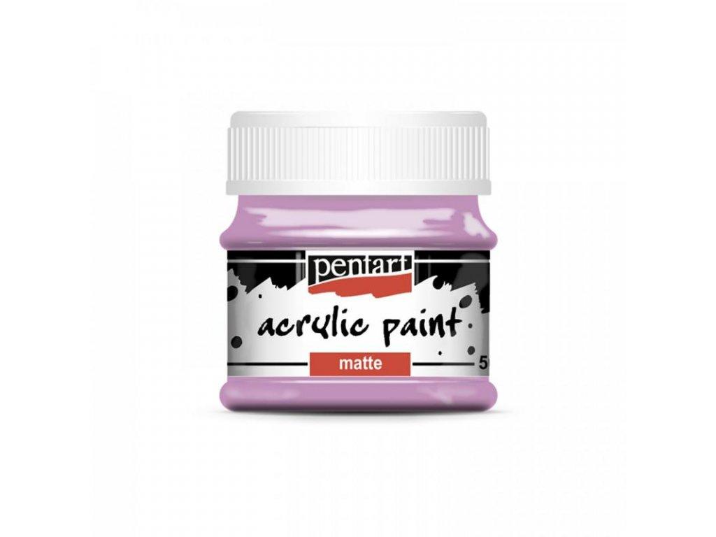 akrylova farba matna 50 ml malina