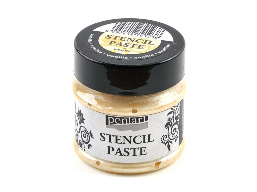 Šablónovacia pasta perleťová 50ml vanilková 29404
