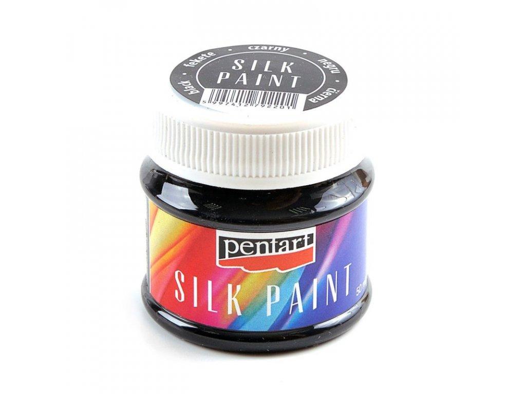Farba na hodvab cierna 50ml 17786 silk paint