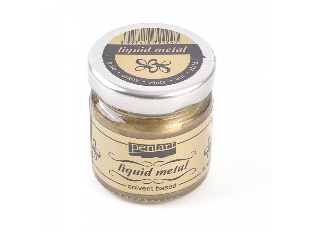 Pentart tekuty kov, 30 ml, zlatá 21079