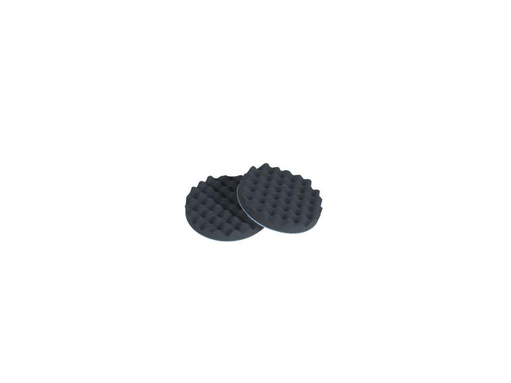 Leštiaci kotúč BODY  na  suchy zips 150*25mm vrubkovaný čierny