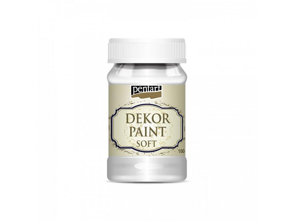 Dekor Paint Soft 100 ml, biela 21472