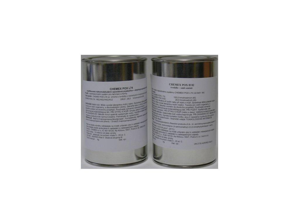 CHEMEX POX L 74 - H92  1,28 kg  na laminovanie a vyrobu/lode,sklo.uhlík/.