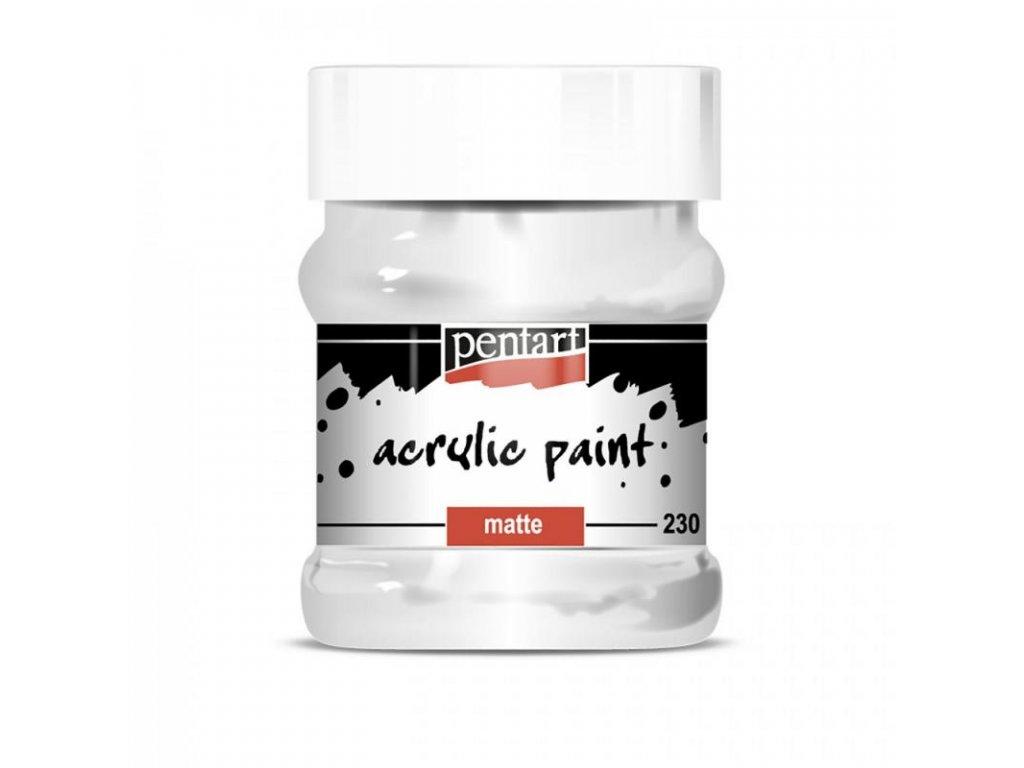 akrylova farba matna 230 ml biela