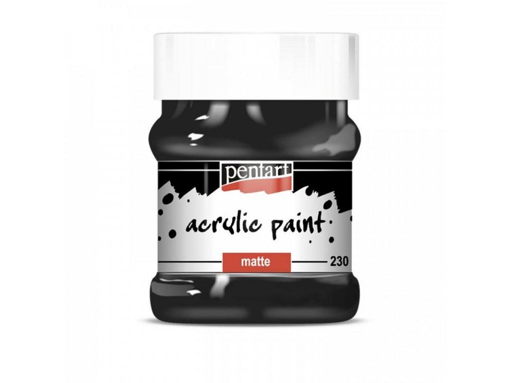 akrylova farba matna 230 ml cierna