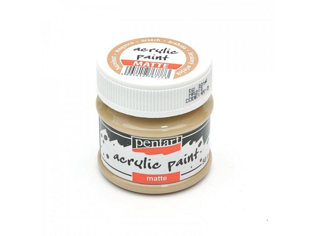 akrylova farba matna 50 ml lieskovy oriesok