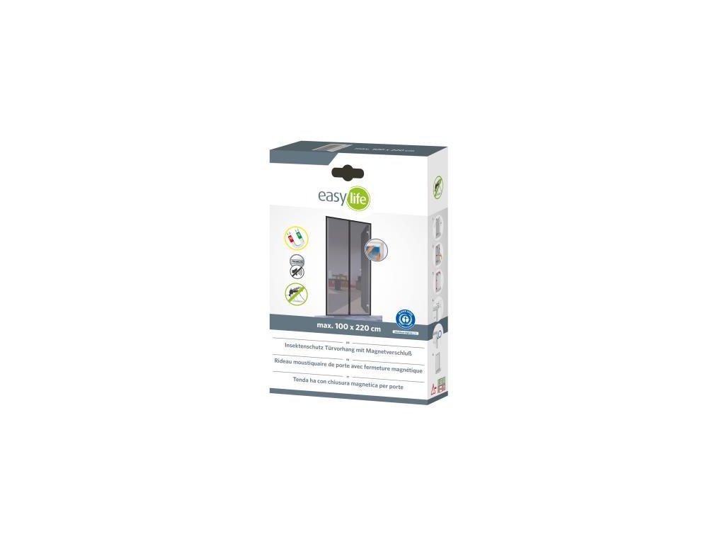 Zaves lamelovy dverovy proti hmyzu magneticky 100*220cm biely 88-000-1140