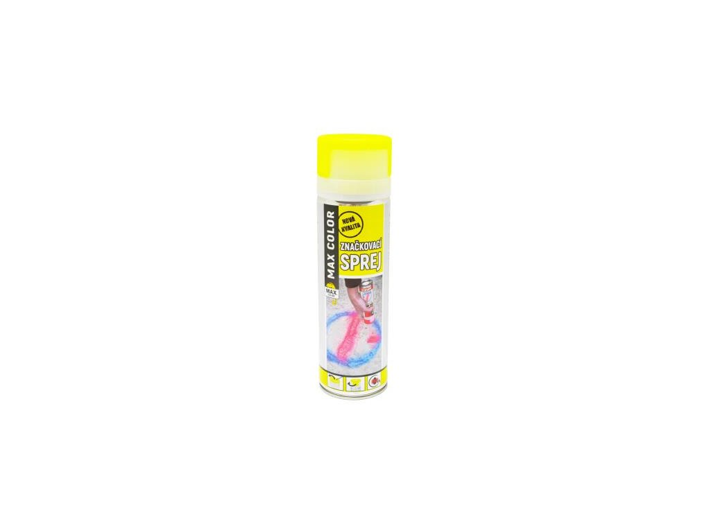 MAX COLOR značkovací sprej 500ml žltá svietivá