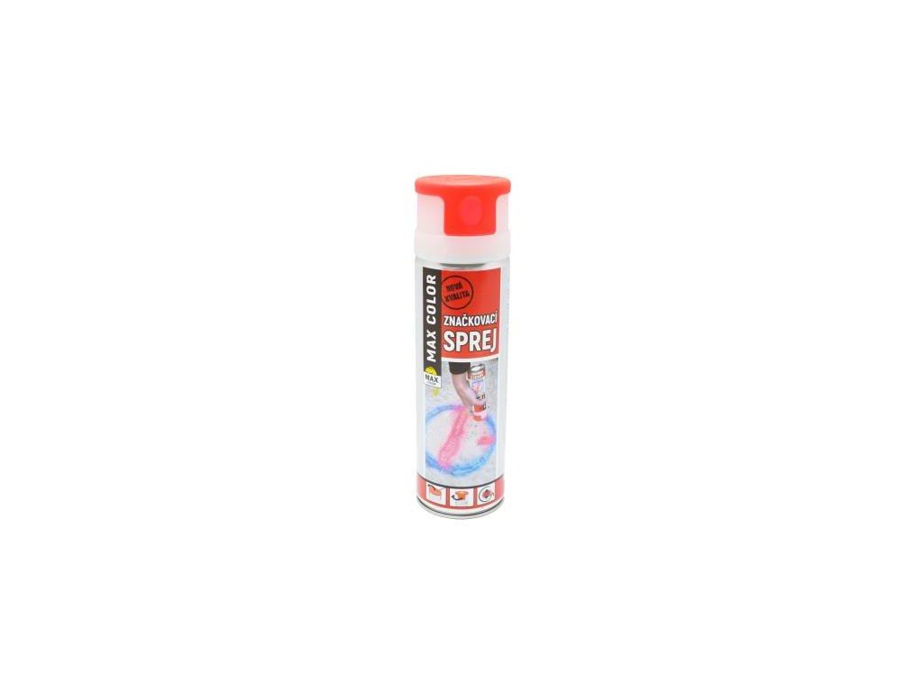 MAX COLOR značkovací sprej 500 ml červená svietivá
