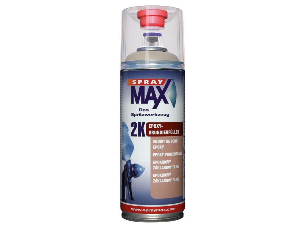 Sprej MAX 2K Epoxidová výplňová hmota 400 ml šedá 680 033